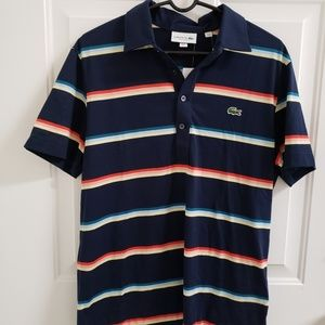 Lacoste Striped Short Sleeve Polo - New With Tags